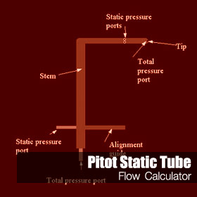 Pitot Static Tube Online Calculation for Compressible and Incompressible Flow and Liquid